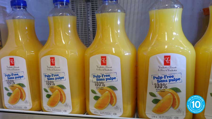 """That is, of course, unless you're drinking the """"no pulp"""" kind"""