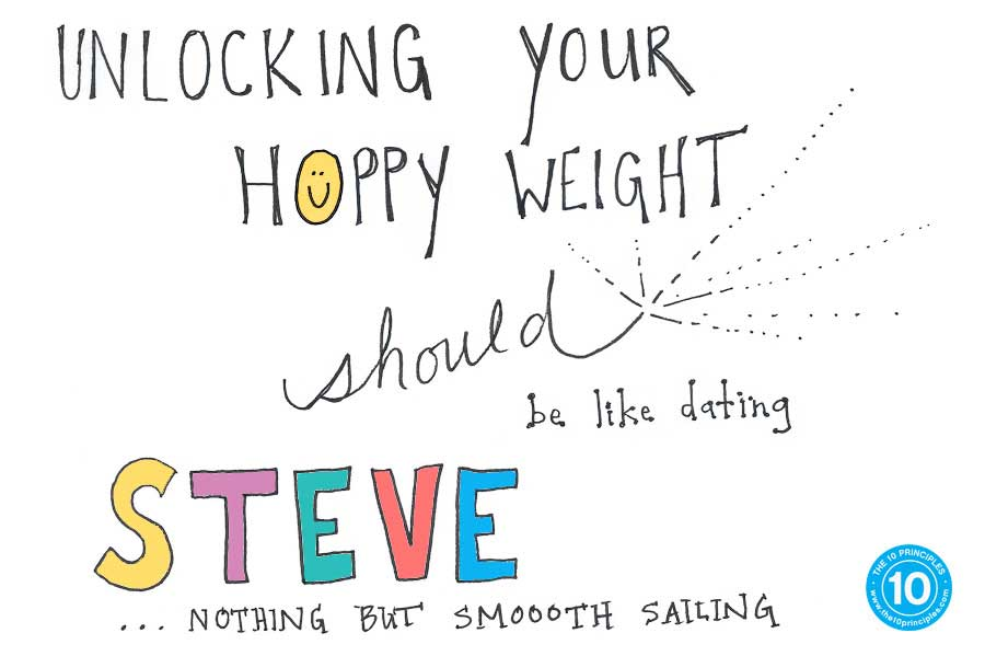 Unlocking your HAPPY weight* should be like dating Steve. Nothin' but smooth sailing!