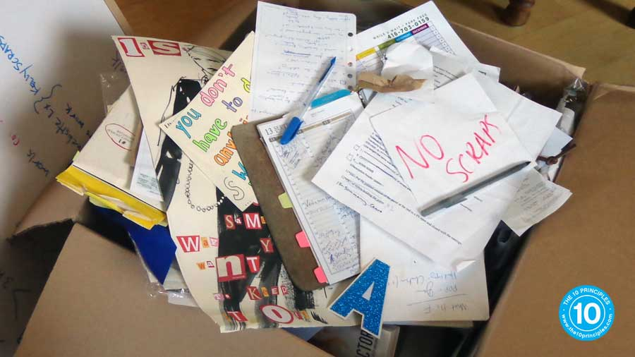That box was full of ideas accumulated over just one week