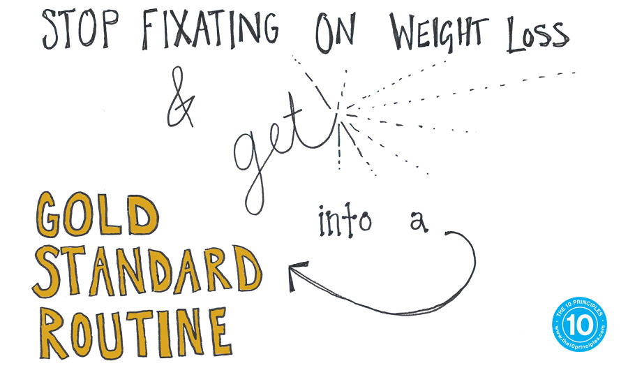 Stop fixating on weight loss and get into a GOLD STANDARD ROUTINE