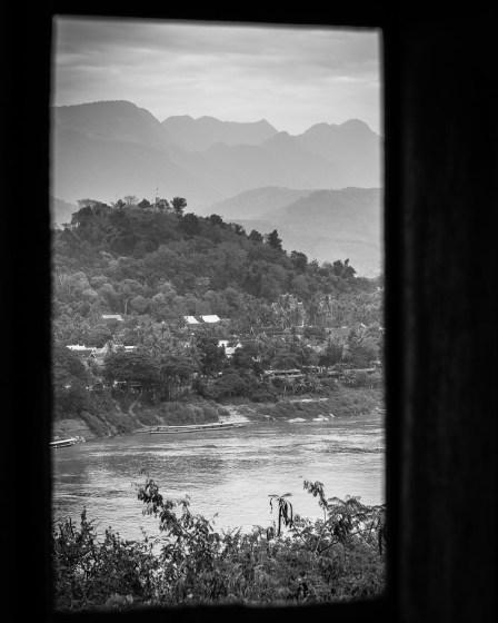 lluang prabang mekong river landscape photograph