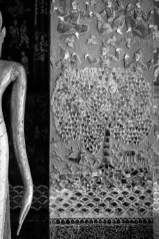 luang prabang temple tree life mosaic