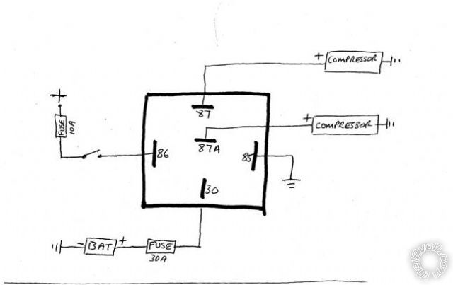 12 volt horn relay wiring diagram trane air handler clarification on 87a terminal of