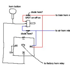 Alarm Wiring Diagram Sentence Diagramming Adjectives Multiple Horns With One Switch