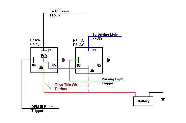 the relay wiring diagram produced by bosch this wiring diagram and