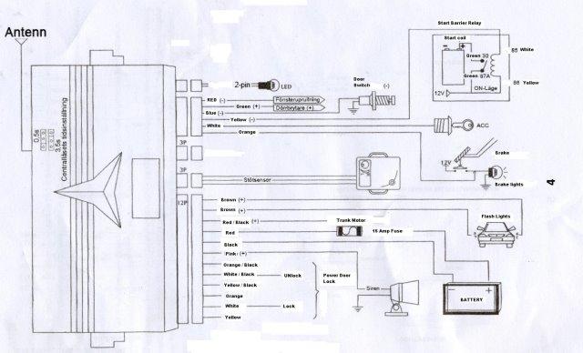 1990 honda accord, alarm wiring