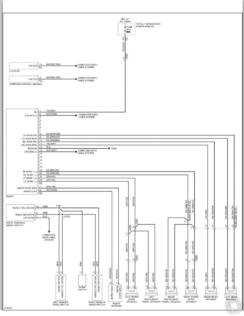hight resolution of 2013 dodge caravan stock radio wiring diagram posted image