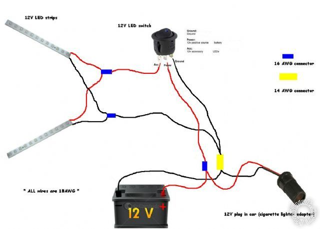 12v wiring diagram / strip lights
