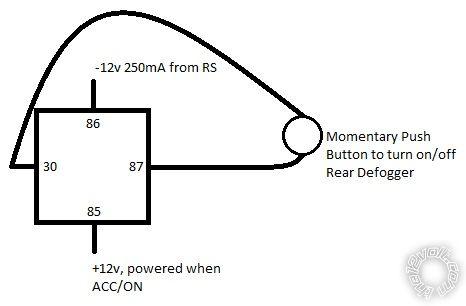 30 amp relay wiring diagram 1998 dodge ram 3500 radio rear defogger auto on with remote start