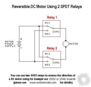 power window motor with relay
