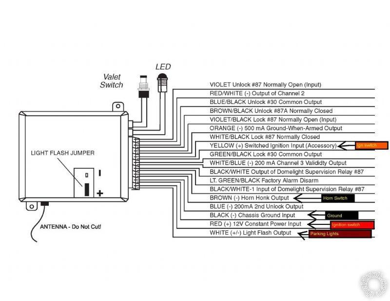 Viper 211HV Wiring Variation
