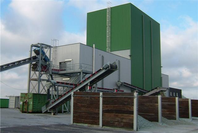 high-tech recycling plant