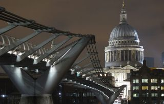 View of St Paul's from the Millennium Bridge