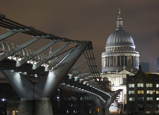 St Paul's Cathedral beyond the Millennium Bridge in London