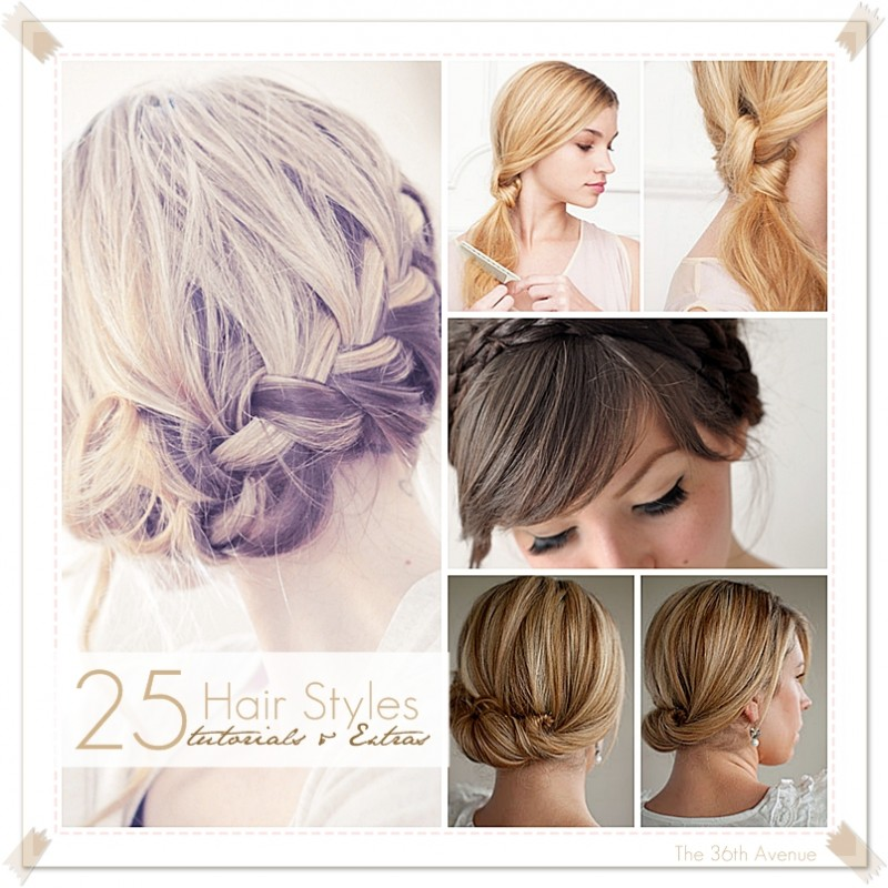 The 36th AVENUE  25 HairStyle TUTORIALS  EXTRAS  The 36th AVENUE