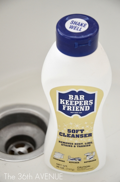 how to clean a porcelain sink the