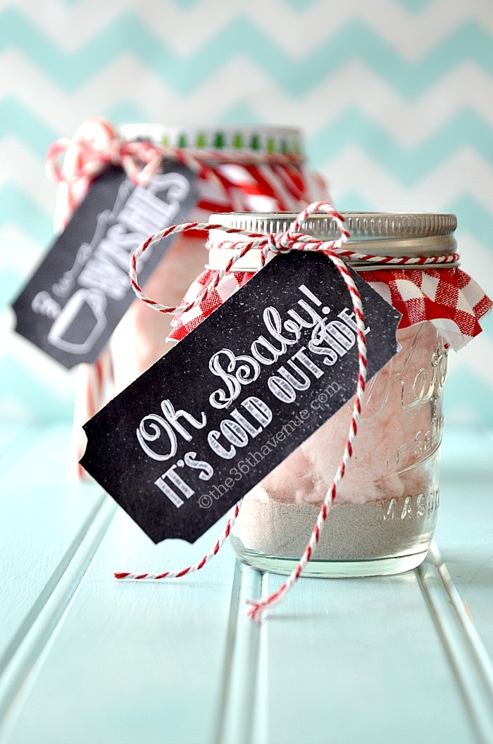 The 36th AVENUE Hot Chocolate And Gift Tag Printable