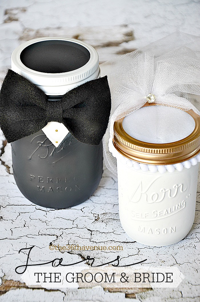 The 36th AVENUE Mason Jar Crafts Groom Amp Bride The