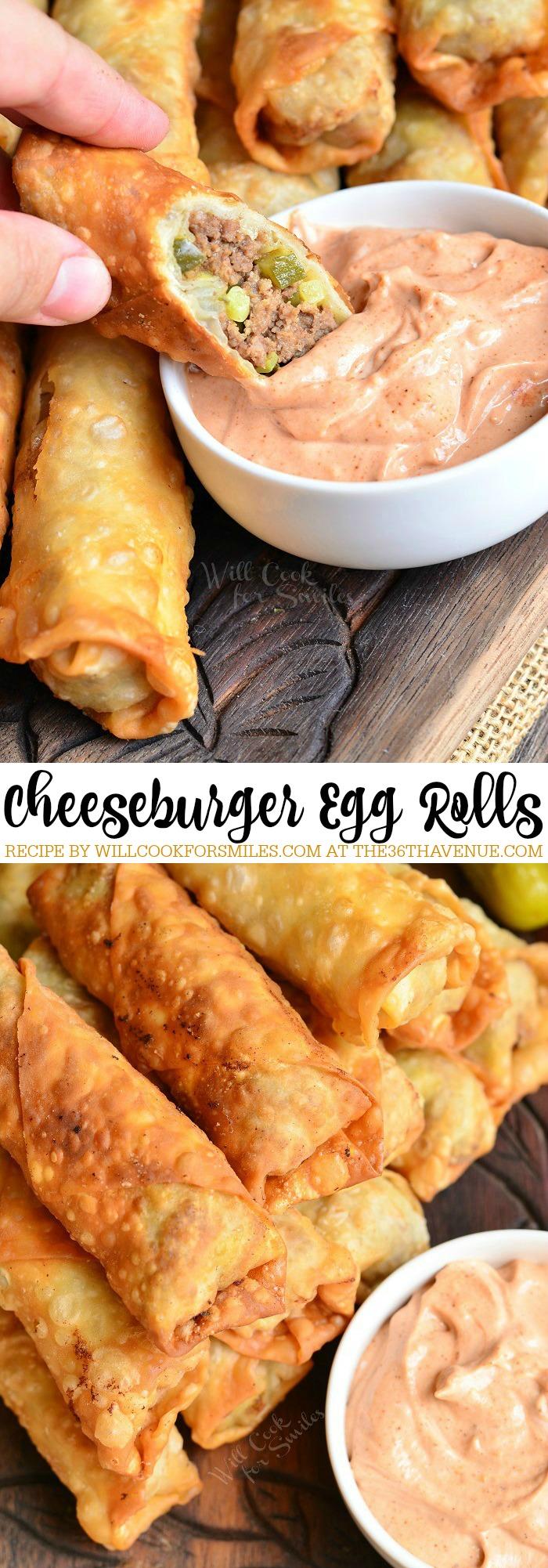 cheeseburger egg rolls the