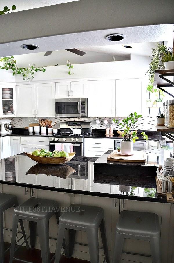 White Kitchen - Pink Decor 36th Avenue