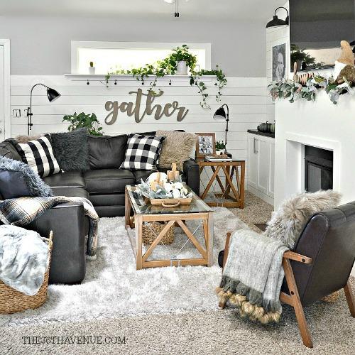 Living Room Farmhouse Decor Ideas  The 36th AVENUE