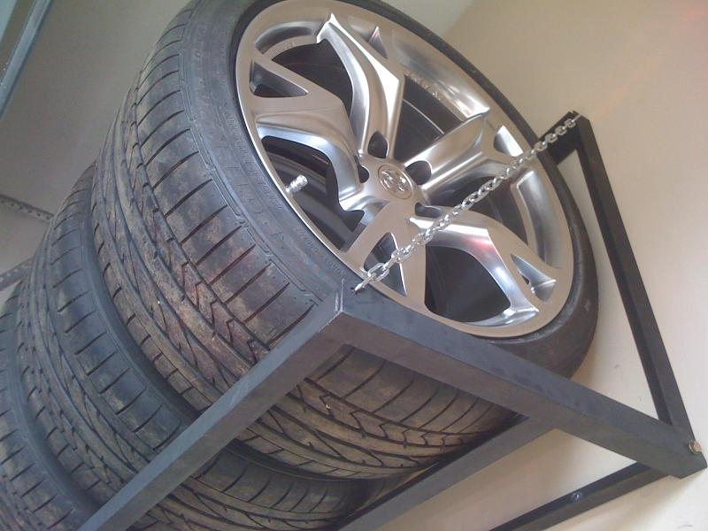 homemade tire rack nissan