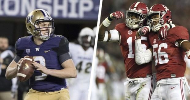 Peach Bowl- Washington Huskies vs. Alabama Crimson Tide Preview