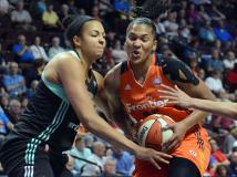 New York Liberty Has 4-game Winning Streak Snapped at Connecticut 96-76