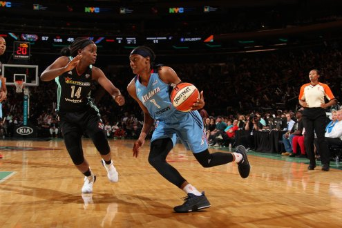 Atlanta's Sykes named WNBA rookie of the month