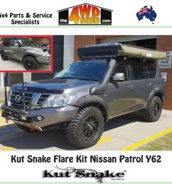kut snake flare kit nissan gu y62 patrol  [ 1600 x 1600 Pixel ]