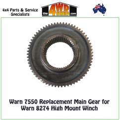 Warn Winch Gears 3d Origami Flower Diagram 7550 Main Gear 8274 High Mount