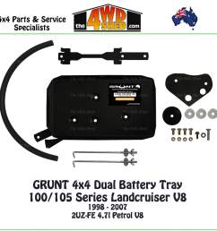 100 105 series landcruiser v8 dual battery tray grunt 4x4 on led wiring battery rack alpha wiring diagram  [ 1600 x 1600 Pixel ]
