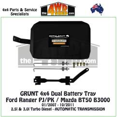 Dual Battery Ford Ranger H4 Wiring Diagram Pj Pk Mazda Bt50 B3000 Tray