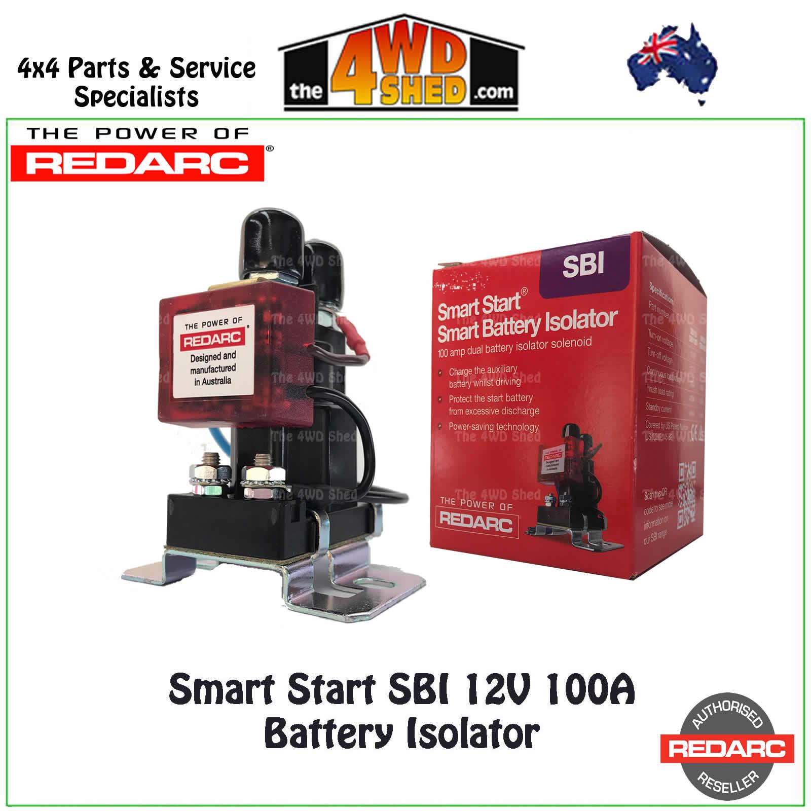redarc sbi wiring diagram pioneer avh x2700bs smart start 12v 100a battery isolator