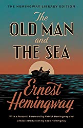 """The Old Man and the Sea cover -- a classic book for the """"set on a form of transportation"""" prompt"""