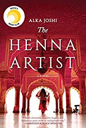 The Henna Artist cover -- a book featuring a woman facing away on the cover