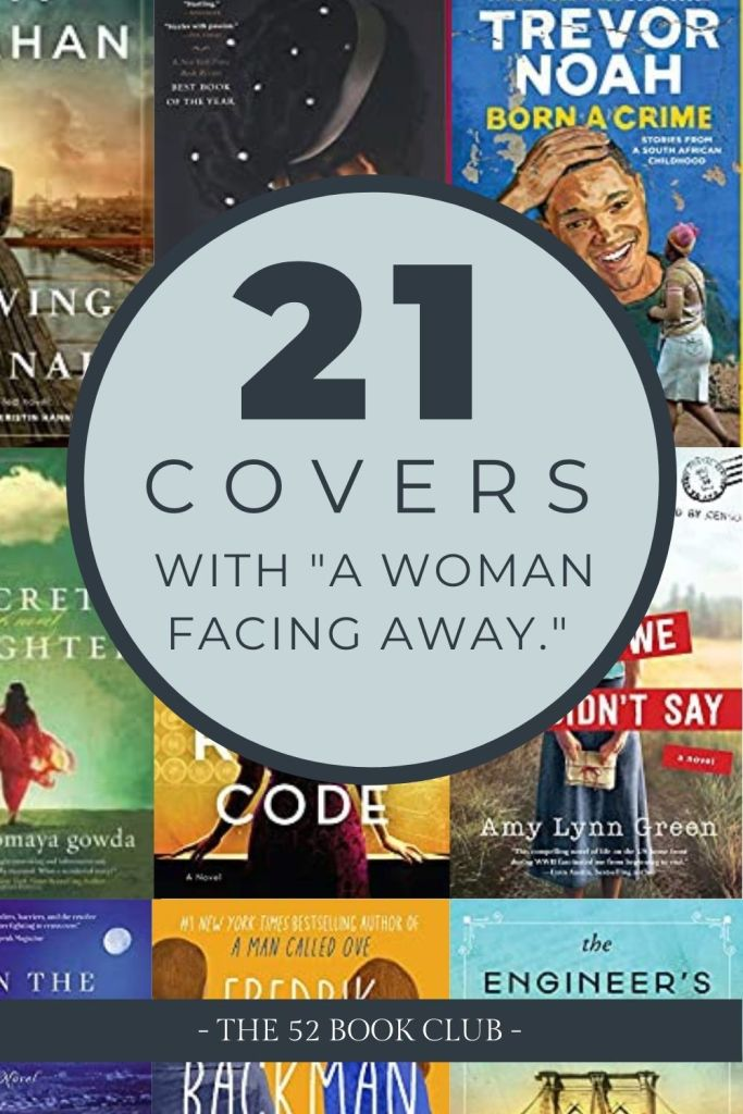 Pinterest graphic: 21 Covers with a woman facing away