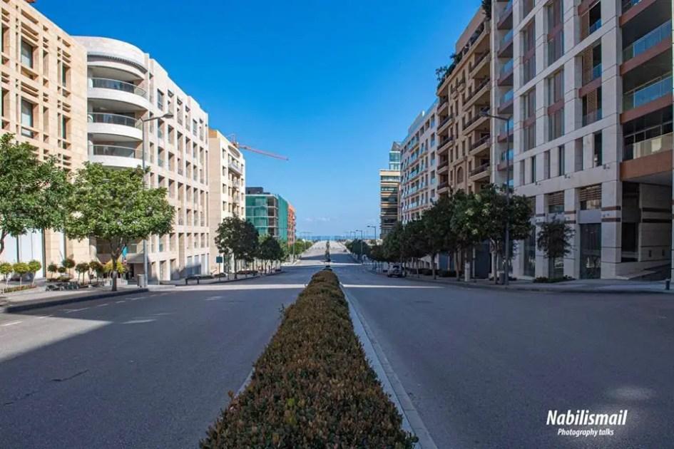 Empty Streets during Force Quarantine Lockdown