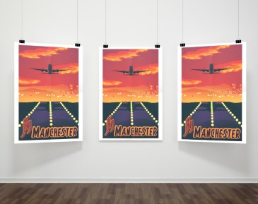 Manchester Airport Mockup Poster Design & Illustration, 2010