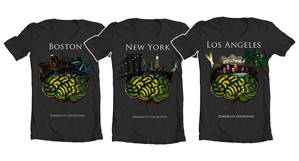 Zombie Bat T-Shirt Design & Illustration, 2012