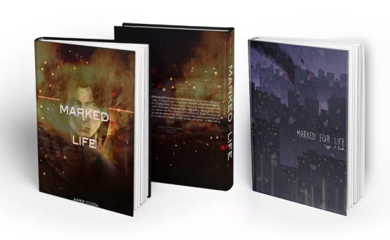 Marked for Life Book Cover Mockups, 2015, 2016