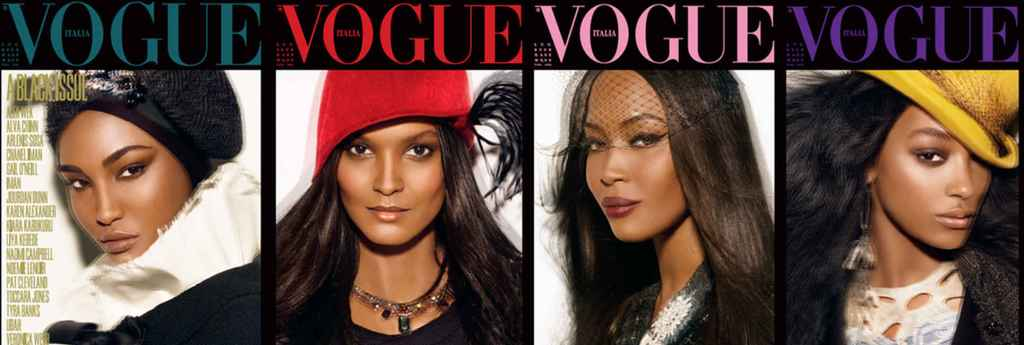 Liya Kebede, Sessilee Lopez, Jourdan Dunn and Naomi Campbell by Steven Meisel and Edward Enninful