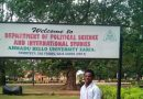 Department of political science and Int'l Studies, ABU Zaria