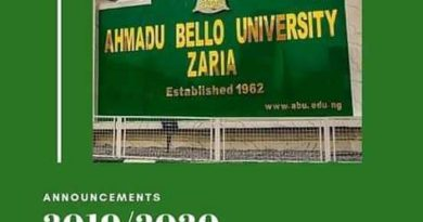 ABU Admission List for 2019/2020 Session Released On School Portal 5