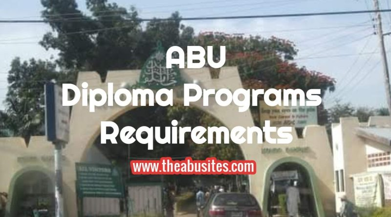 Entry Requirements for ABU Diploma Programs 4