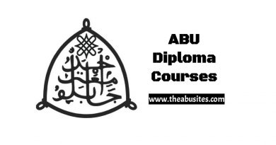 Full List of 129 ABU PGD Courses, Diplomas, and Certificate Courses 5