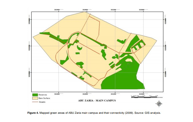 GREEN AREA MAPPING OF ABU MAIN CAMPUS, ZARIA,  USING REMOTE SENSING AND GIS TECHNIQUES