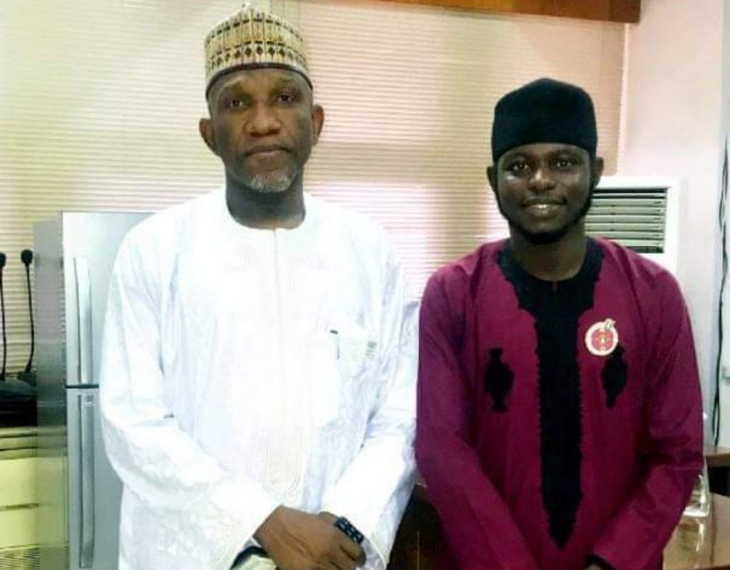 The vice chancellor of ABU, Prof Kabir Bala (left) and the ABU-SRC PRESIDENT Comrade Ali Sadiq
