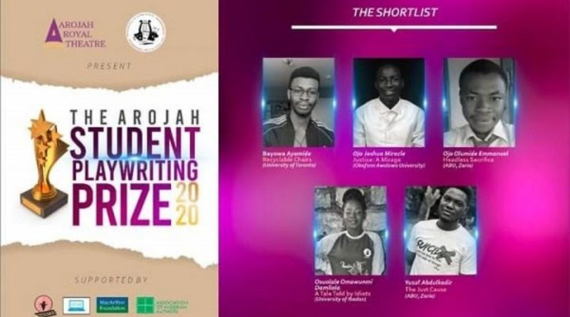Two ABU Students, 3 others Shortlisted for Arojah Student's Playwriting Prize 2020 8