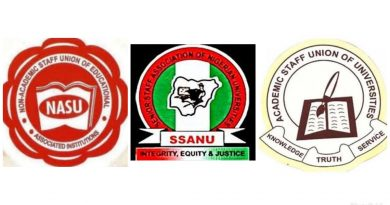 SSANU, NASU begin full strike Monday as ASUU continues industrial action.